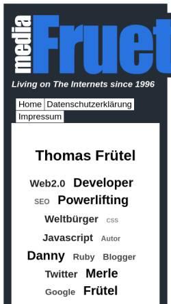 Vorschau der mobilen Webseite www.fruetel.de, Fruetel Media Services