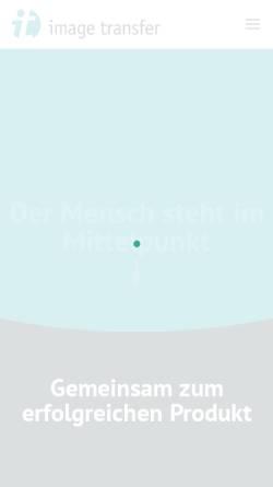 Vorschau der mobilen Webseite www.image-transfer.de, Image Transfer GmbH
