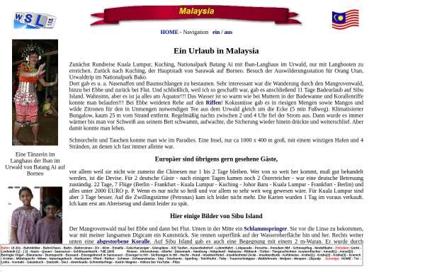 Vorschau von www.w-schlegel.de, Urlaub in Malaysia [Wolfgang Schlegel]