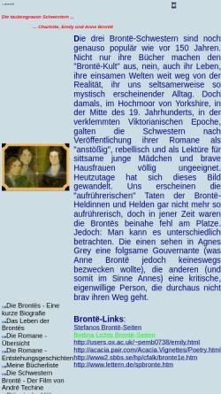 Vorschau der mobilen Webseite www.mynetcologne.de, Die taubengrauen Schwestern - Charlotte, Emily und Anne Brontë