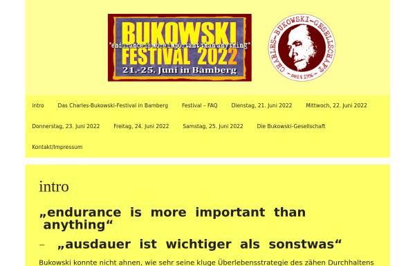 Vorschau von www.bukowski-gesellschaft.de, Charles-Bukowski-Gesellschaft