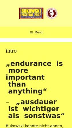 Vorschau der mobilen Webseite www.bukowski-gesellschaft.de, Charles-Bukowski-Gesellschaft