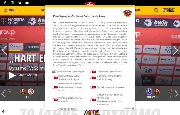 Vorschau von www.dynamo-dresden.de, 1. FC Dynamo Dresden
