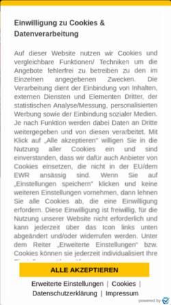 Vorschau der mobilen Webseite www.dynamo-dresden.de, 1. FC Dynamo Dresden