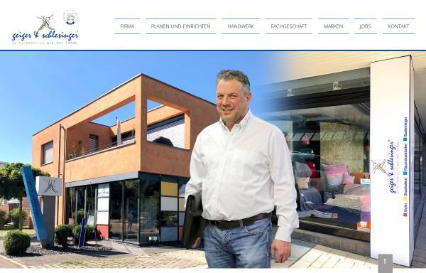 Vorschau von www.maler-schlesinger.de, Geiger & Schlesinger GmbH Malerwerkstätten