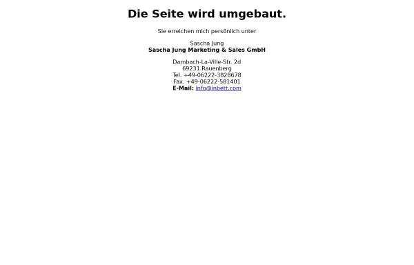 Vorschau von www.inbett.com, Sascha Jung Marketing & Sales GmbH, Sascha Jung