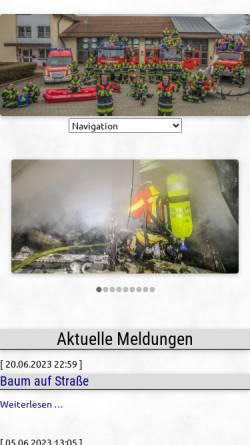 Vorschau der mobilen Webseite www.ff-ebenhausen.de, Freiwillige Feuerwehr Ebenhausen