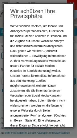 Vorschau der mobilen Webseite www.nuernberg.de, Stadtbibliothek
