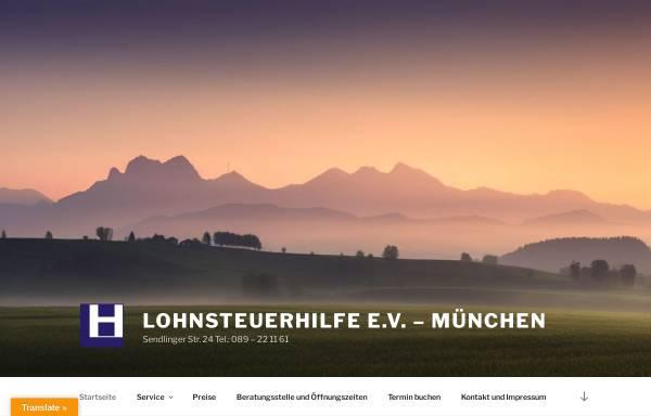 Vorschau von www.lohnsteuerhilfe-ev.net, Lohnsteuerhilfe e.V. - Seit 1972 am Münchner Marienplatz