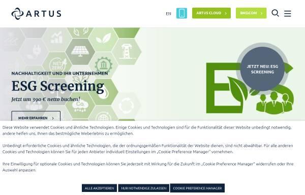 Vorschau von www.artus.at, ARTUS Consulting service unlimited