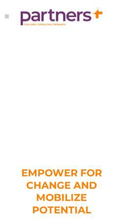 Vorschau der mobilen Webseite partners4.com, Beraterinnennetzwerk Partners4