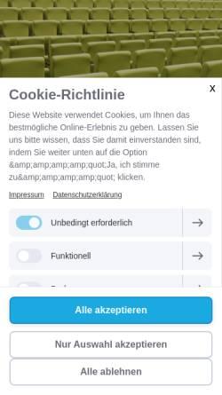 Vorschau der mobilen Webseite conventive.at, Conventive - die VeranstaltungsGesmbH in Wien