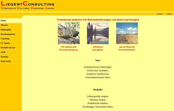 Vorschau von www.liegertconsulting.com, Liegert Consulting