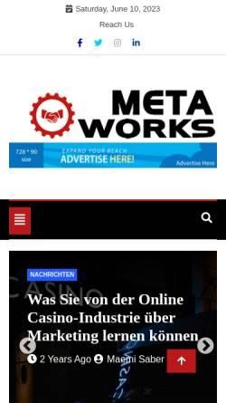 Vorschau der mobilen Webseite www.metaworks.at, Metaworks