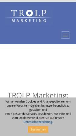 Vorschau der mobilen Webseite www.trolp-marketing.at, Trolp Marketing-Agentur OEG