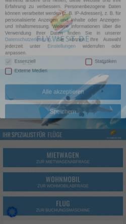 Vorschau der mobilen Webseite www.flywest.de, Flywest.de