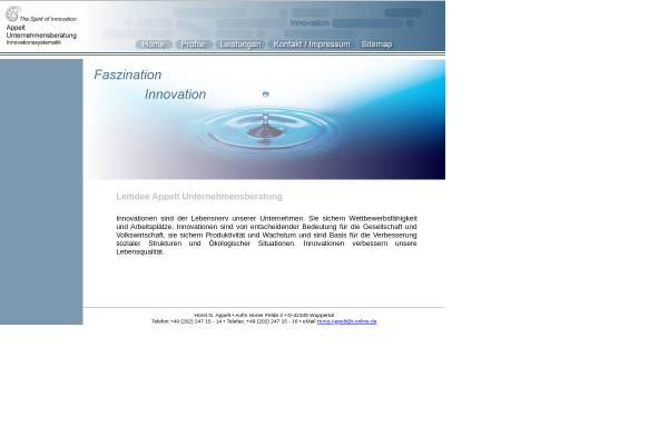 Vorschau von www.appelt-unternehmensberatung.de, Appelt Unternehmensberatung Inh. Horst G. Appelt