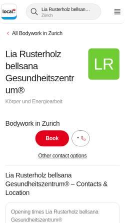 Vorschau der mobilen Webseite bellsana.ch, Bellsana Gesundheitszentrum