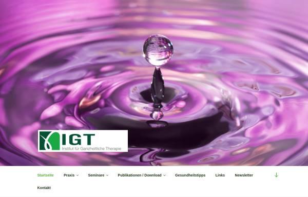 Vorschau von www.i-g-t.com, IGT-Institut für Ganzheitliche Therapie