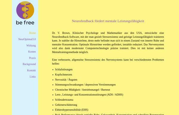 Vorschau von www.neurofeedback.ch, Steve Ebright