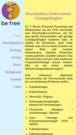 Vorschau der mobilen Webseite www.neurofeedback.ch, Steve Ebright