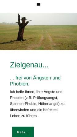 Vorschau der mobilen Webseite www.zielgenau.ch, Zielgenau Morphogenetic Reality Design