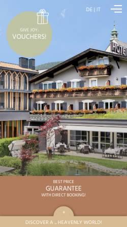 Vorschau der mobilen Webseite www.zum-engel.it, Hotel Zum Engel