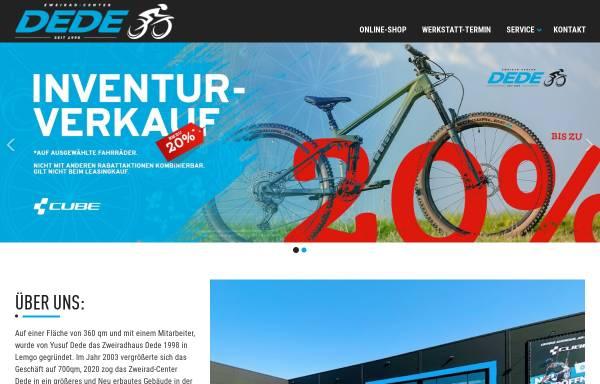 Vorschau von www.dede-lemgo.de, Zweiradhaus Dede
