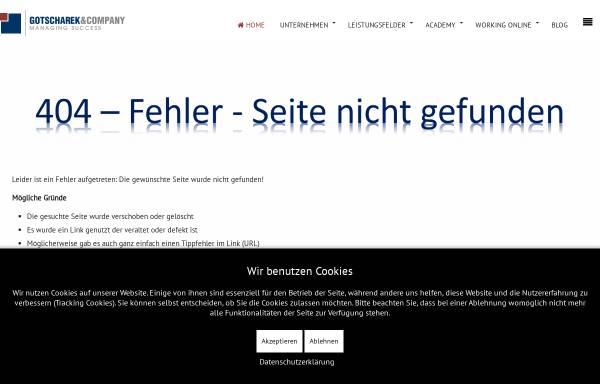 Vorschau von www.gotscharek.de, Gotscharek Business & Technology Consulting