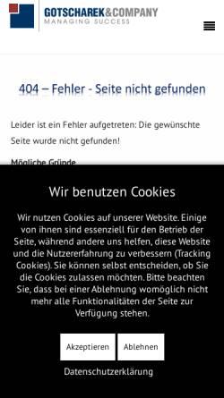 Vorschau der mobilen Webseite www.gotscharek.de, Gotscharek Business & Technology Consulting