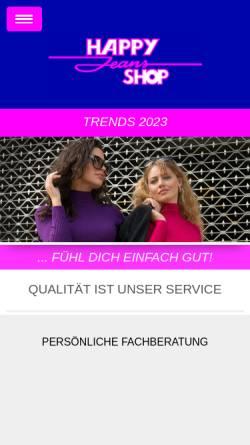 Vorschau der mobilen Webseite www.happy-jeans-shop.de, Happy Jeans Shop KG