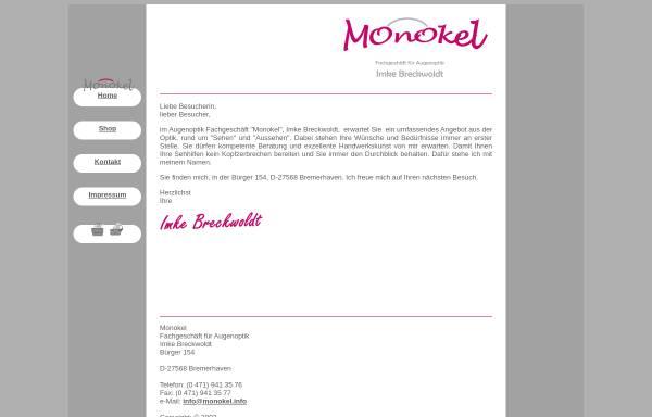 Vorschau von www.monokel.info, Monokel - Imke Breckwoldt