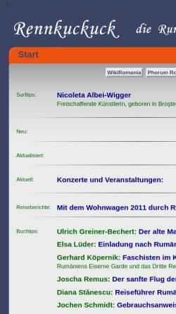 Vorschau der mobilen Webseite www.rennkuckuck.de, Rennkuckuck