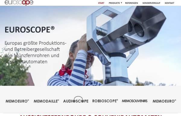 Vorschau von www.euroscope.com, Automaten Winkels GmbH & Co. KG