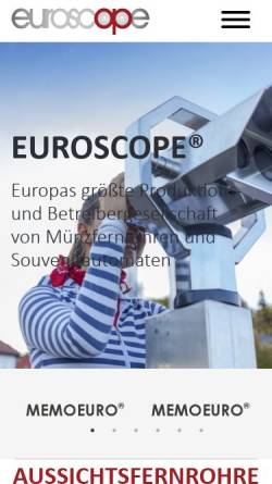 Vorschau der mobilen Webseite www.euroscope.com, Automaten Winkels GmbH & Co. KG