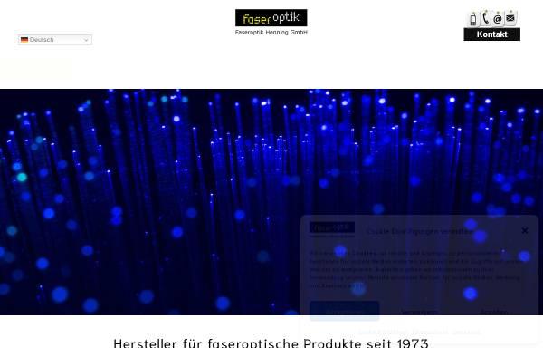 Vorschau von www.faseroptik-henning.de, Faseroptik Henning GmbH