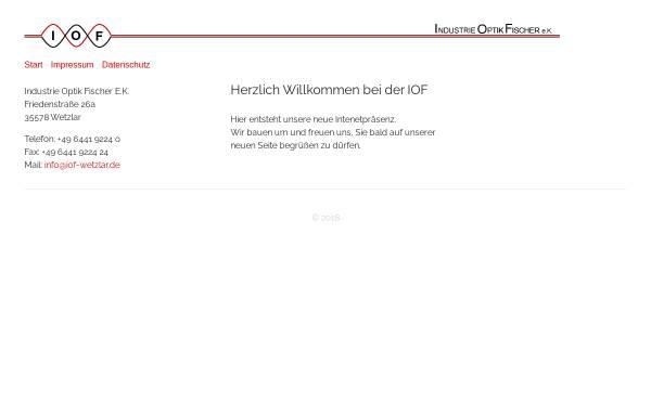 Vorschau von www.iof-wetzlar.de, IndustrieOptikFischer e.K.