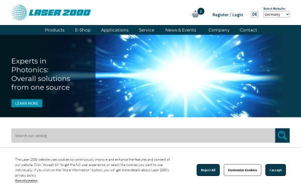 Vorschau von www.laser2000.de, Laser 2000 - Passion für Photonik