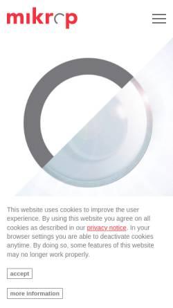 Vorschau der mobilen Webseite www.mikrop.ch, Mikrop AG