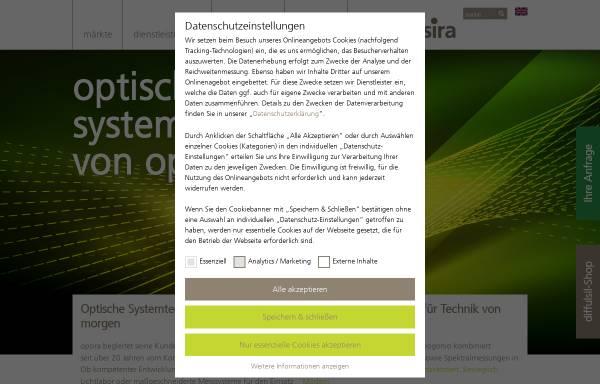Vorschau von www.opsira.de, Opsira GmbH Optische Systemtechnik