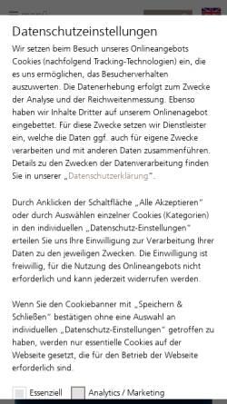 Vorschau der mobilen Webseite www.opsira.de, Opsira GmbH Optische Systemtechnik