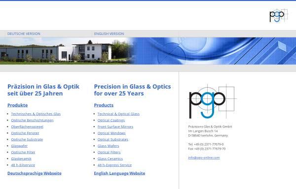 Vorschau von www.pgo-online.com, Präzisions Glas & Optik GmbH