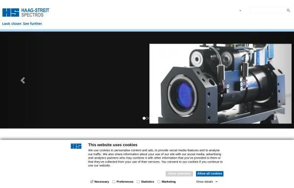 Vorschau von www.spectros.ch, Spectros AG