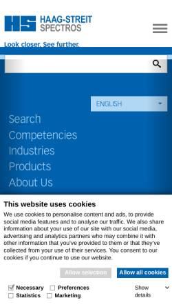 Vorschau der mobilen Webseite www.spectros.ch, Spectros AG