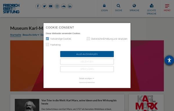 Vorschau von www.fes.de, Karl-Marx-Haus, Trier