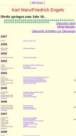 Vorschau der mobilen Webseite www.mlwerke.de, Stimmen der Proletarischen Revolution - Karl Marx und Friedrich Engels