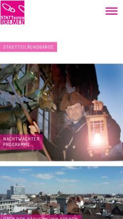 Vorschau der mobilen Webseite www.stattreisen-bremen.de, StattReisen Bremen e.V.
