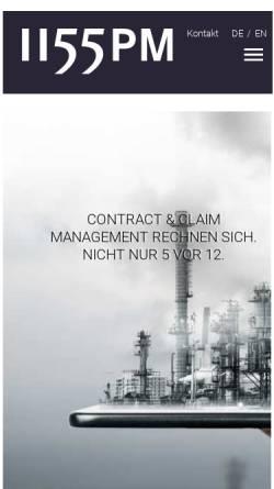 Vorschau der mobilen Webseite www.1155pm.de, 1155PM consultants GmbH