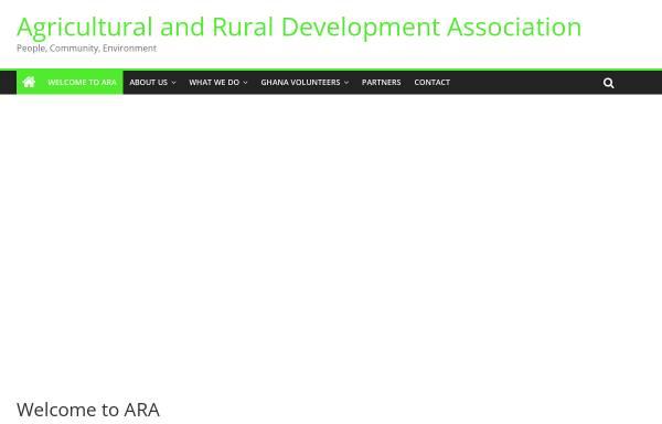 Vorschau von www.ara-ghana.de, ARA in Ghana