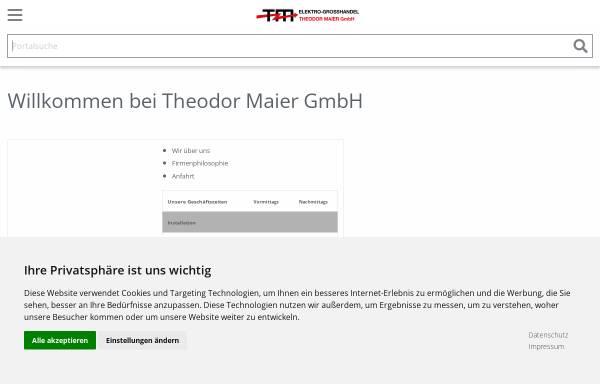 Vorschau von www.elektro-online.de, Maier, Theodor GmbH - Elektrogroßhandel